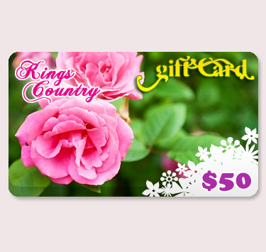 $50.00 Kings County Nurseries Gift Certificate